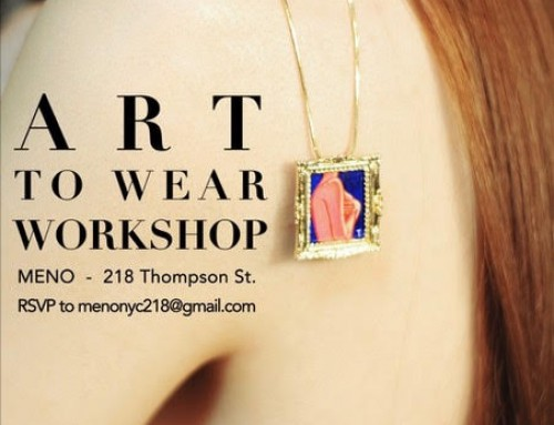 The Art To Wear Workshop at MENO Tea House