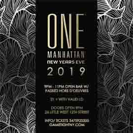 One Manhattan (Formerly Tenjune) New Years Eve 2019