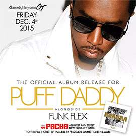 Puff Daddy Live at Pacha NYC Party 2015