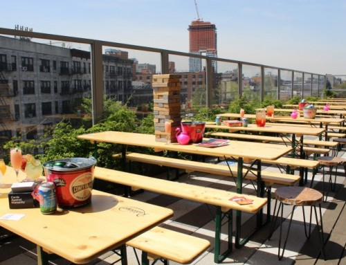 Clinton Hall Rooftop Beer Garden: NYC's Only Solar Powered Rooftop Beer Garden!