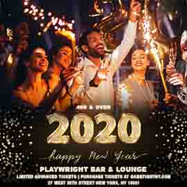 Playwright Bar & Lounge 40s & Over New Years Eve Party 2020