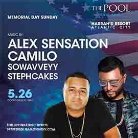 Dj Camilo & Alex Sensation MDW 2019 Harrahs Resort Pool Party 2019