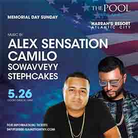 Memorial Day Weekend Atlantic City Harrahs Pool Party 2019