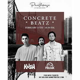 Concrete Beatz featuring KVSH + Felguk live at the Penthouse 2020