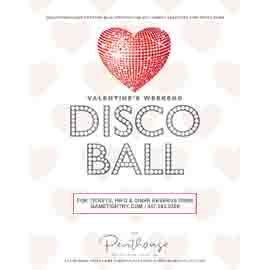 Ravel Penthouse 808 Valentine's Day Waterside Dining & Disco Ball 2020