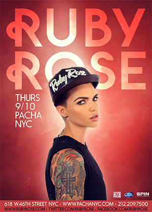 Giveaway: 2 Tickets to Ruby Rose at Pacha NYC