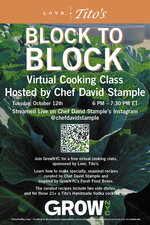 Virtual Cooking Class from Chef David Stample Presented by Love, Tito's and GrowNYC