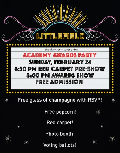 the skint presents: Free Academy Awards Screening Party
