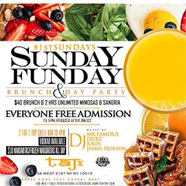 Taj Lounge NYC Hip Hop vs. Reggae™ Sunday Funday Brunch Party