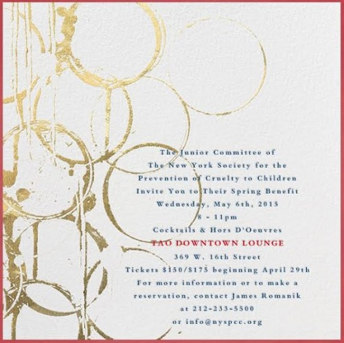New York Society for the Prevention of Cruelty to Children's Spring Benefit