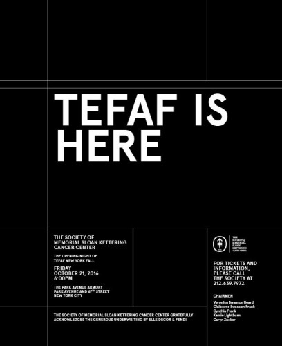 The Society of Memorial Sloan Kettering Presents: Opening Night of TEFAF New York Fall