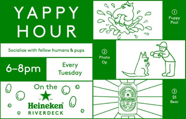 Yappy Hour at Heineken Riverdeck